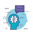 profile with brain innovation icon vector image vector image