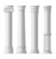 realistic detailed 3d ancient columns set vector image