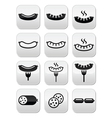 Sausage grilled or with for icons set vector image vector image