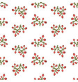 seamless floral pattern of berries vector image vector image
