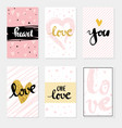 set card love lettering for poster vector image vector image