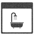Shower Bath Calendar Page Grainy Texture Icon vector image vector image