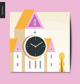 simple things - clock tower vector image vector image