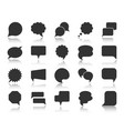 speech bubble black silhouette icons set vector image vector image