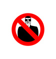 Stop spy Forbidden secret agent Frozen man in vector image