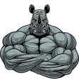 Strong rhinoceros athlete vector image