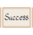 Success word on scroll paper vector image vector image