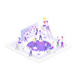 team working isometric vector image vector image