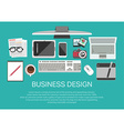 Technology and business icons vector image vector image