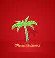 Tropical Christmas Card vector image vector image