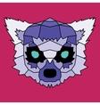 Violet low poly lined lemur vector image