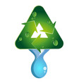 water drop recycling vector image vector image
