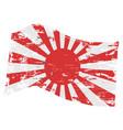 grunge japanese flag vector image