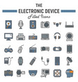 electronic device colorful line icon set vector image