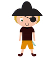 Fun Halloween Pirate isolated on white vector image