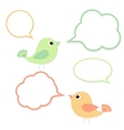 Set of birds with speech bubbles vector image