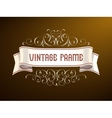 Vintage frame with hand-drawing elements vector image