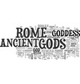 ancient rome food text word cloud concept vector image vector image