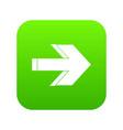 arrow icon digital green vector image vector image