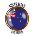 australia proud flag button vector image