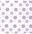 background of purple fantasy flowers vector image vector image