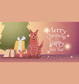 banner template for christmas and new year vector image vector image