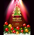 beautiful christmas card vector image