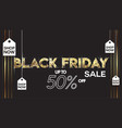black friday sale banner layout design background vector image