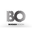 bo b o lines letter design with creative elegant vector image