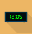 button clock icon flat style vector image vector image