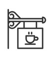 cafe sign coffee related line style editable vector image vector image