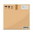 cardboard carton container box package s side view vector image vector image