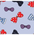 Cartoon seamless pattern with bow-tie vector image vector image