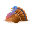 Cartoon Smiling Turkey vector image