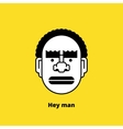 Character design black angry man avatar vector image