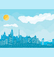 city skyline silhouette vector image