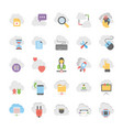 cloud computing icons set 2 vector image vector image