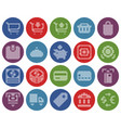 collection dotted round icons finance and vector image vector image