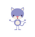 colorful caricature of cute cat astonished vector image vector image