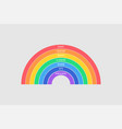 colorful rainbow on gray background every hunter vector image vector image