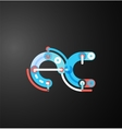 Company branding logo of initial letters vector image