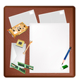 Computer Equipment on A Blank Page and Envelope vector image vector image
