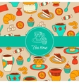 Concept of tea time sticker stuff vector image