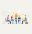coworking business concept with young people vector image vector image