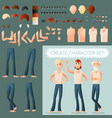 create man character set vector image vector image