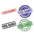 damaged textured free games stamp seals vector image vector image