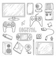 digital gadgets computer pc laptop notebook vector image vector image