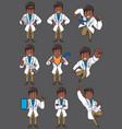 doctor indian set vector image