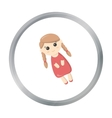 Doll cartoon icon for web and mobile vector image vector image