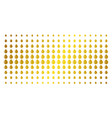 drop golden halftone matrix vector image vector image